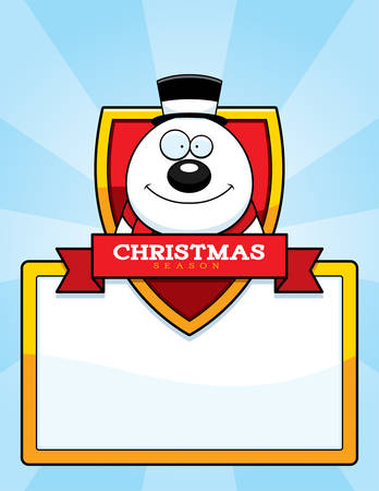 top hat cartoon: A cartoon illustration of a Christmas graphic with a snowman. Illustration