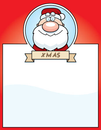 santa claus cartoon: A cartoon illustration of a Christmas graphic with Santa Claus.