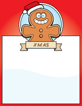 gingerbread man: A cartoon illustration of a Christmas graphic with a gingerbread man.