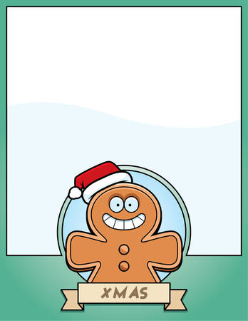 gingerbread man: A cartoon illustration of a Christmas graphic with gingerbread man.