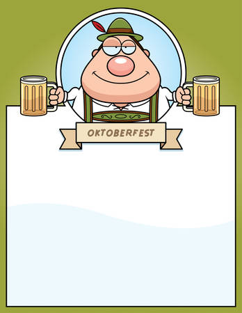intoxicated: A cartoon illustration of a drunk man in an Oktoberfest themed graphic.
