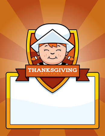 pilgrim: A cartoon illustration of a Thanksgiving graphic with a Pilgrim girl.