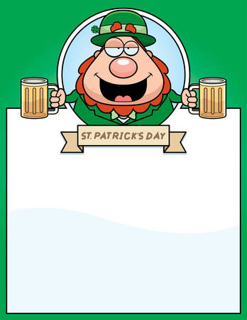 intoxicated: A cartoon illustration of a drunk leprechaun in a St. Patricks Day themed graphic. Illustration