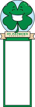 cartoon shamrock: A cartoon illustration of a shamrock in a St. Patricks Day themed graphic.