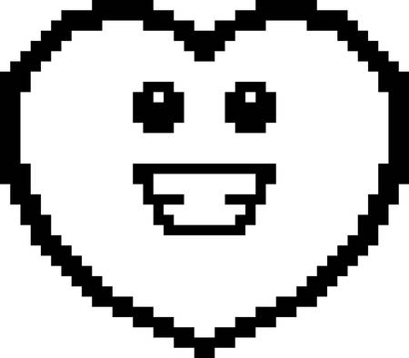8bit: An illustration of a ghost smiling in an 8-bit cartoon style.