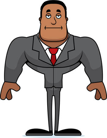 A cartoon businessperson looking bored. Illustration