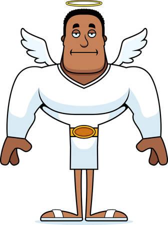 A cartoon angel looking bored. Banco de Imagens - 101752930