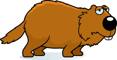 A cartoon illustration of a woodchuck looking sad. Illustration