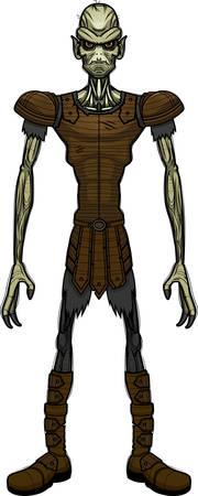 A cartoon illustration of an evil looking goblin.