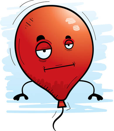 A cartoon illustration of a balloon with a bored expression. Illustration