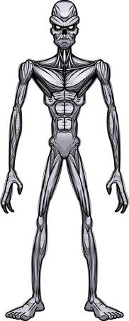 A cartoon illustration of an evil looking ghoul. Иллюстрация