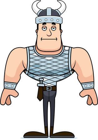 A cartoon Viking looking bored. Banco de Imagens - 101751247