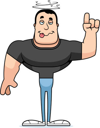 A cartoon man looking drunk. Stock Vector - 101915379