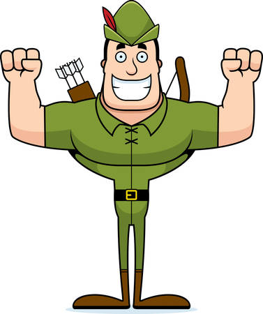 A cartoon Robin Hood smiling.