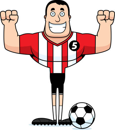 A cartoon soccer player smiling.
