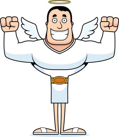 A cartoon angel smiling.