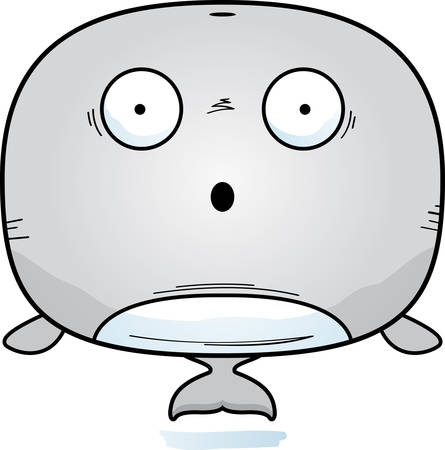 A cartoon illustration of a whale looking surprised.