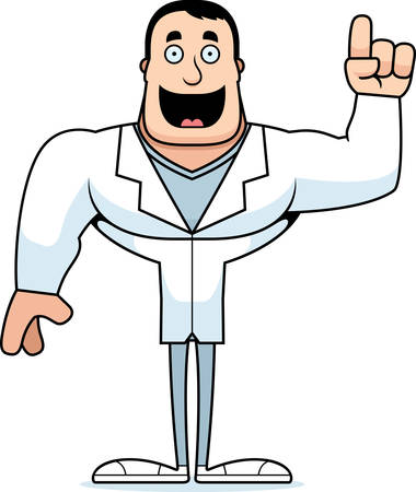 A cartoon doctor with an idea.