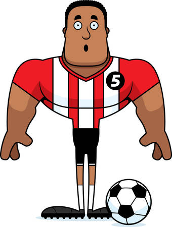 A cartoon soccer player looking surprised.