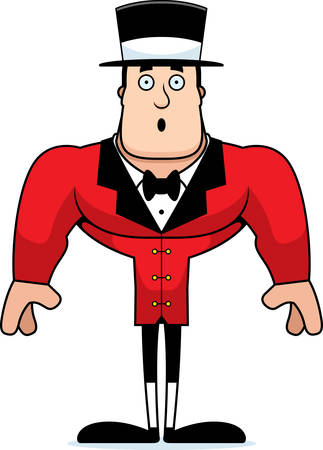 A cartoon ringmaster looking surprised.