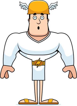 A cartoon Hermes looking surprised.