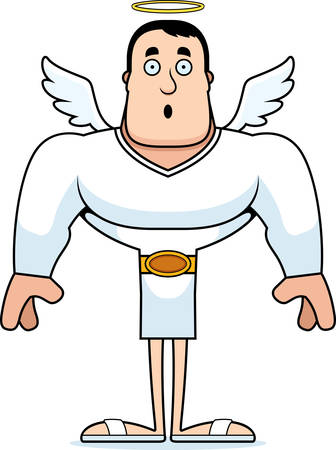 A cartoon angel looking surprised.