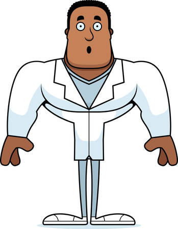 A cartoon doctor looking surprised.