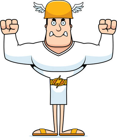 A cartoon Hermes looking angry.