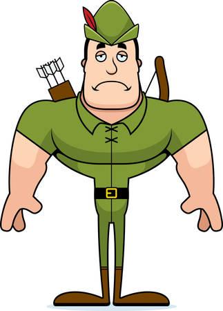 A cartoon Robin Hood looking sad.