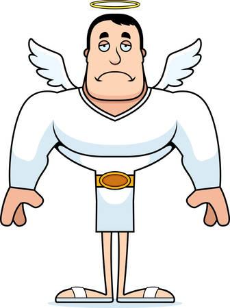 A cartoon angel looking sad.