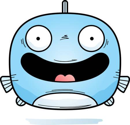 A cartoon illustration of a fish smiling. 写真素材 - 103847520