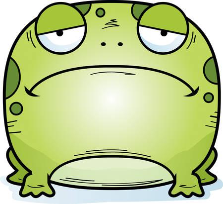 A cartoon illustration of a frog looking sad. 일러스트