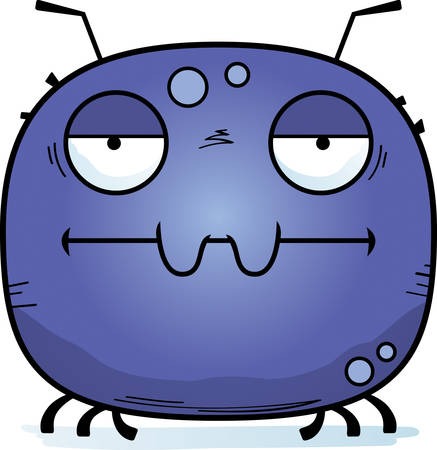 A cartoon illustration of a tick looking bored.