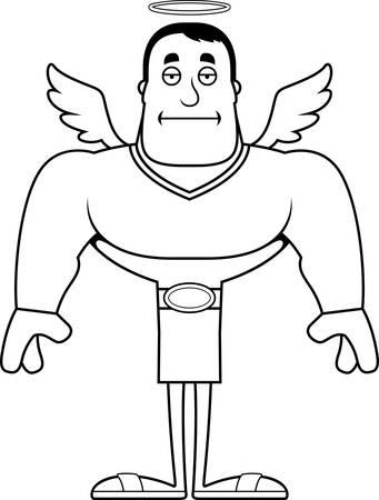 A cartoon angel looking bored.