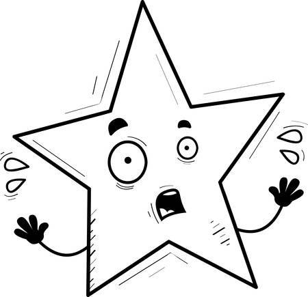 A cartoon illustration of a star looking scared.