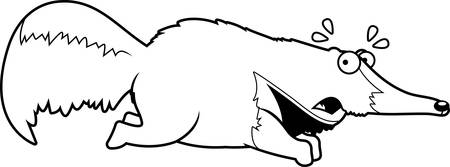 une illustration de bande dessinée d & # 39 ; un fourmilier courir en cours d Vecteurs