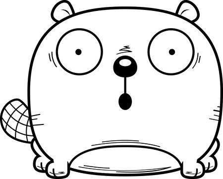 A cartoon illustration of a beaver looking surprised. Illusztráció
