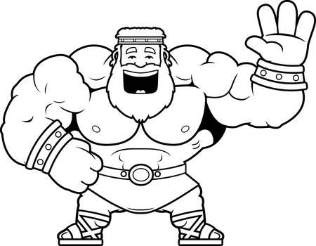 A cartoon illustration of Zeus waving.