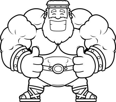 A cartoon illustration of Zeus with thumbs up. Ilustrace