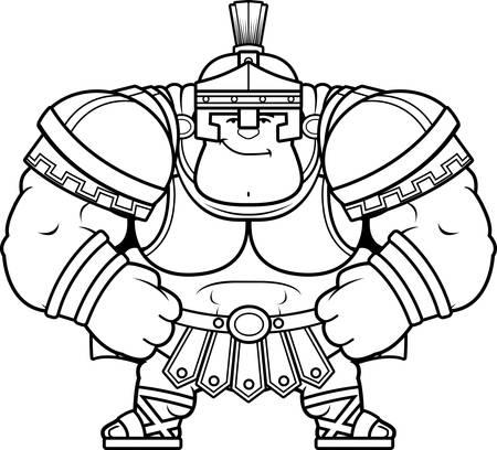 A cartoon illustration of a Roman centurion looking confident. Illustration