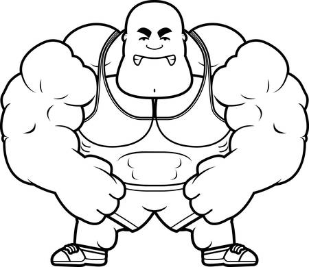 A cartoon illustration of a personal trainer looking mad. Illustration