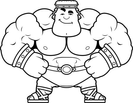 A cartoon illustration of Hercules looking confident. Illustration