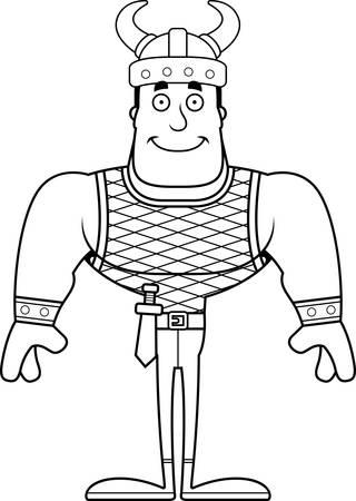 A cartoon Viking smiling.