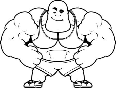 A cartoon illustration of a personal trainer looking confident. Illustration