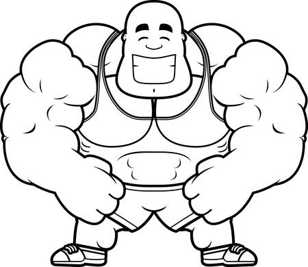 A cartoon illustration of a personal trainer smiling.