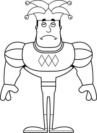 A cartoon jester looking sad. Reklamní fotografie - 102097187