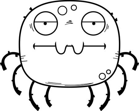A cartoon illustration of a spider looking bored.
