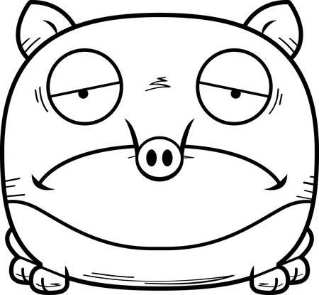 A cartoon illustration of a tapir looking sad.