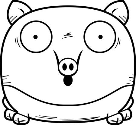 A cartoon illustration of a tapir looking surprised. Иллюстрация