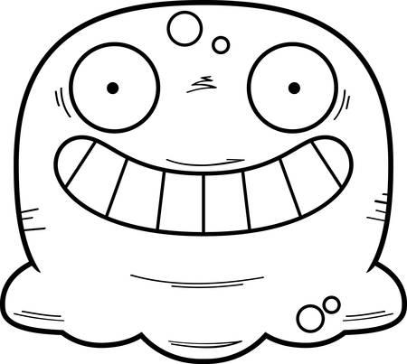 A cartoon illustration of a booger looking happy. Standard-Bild - 102190696